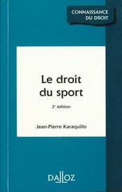 Le Droit Du Sport - Intérieur - Format classique
