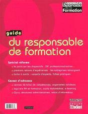 Guide Du Responsable De Formation (Edition 2006) - Intérieur - Format classique
