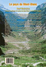 Le pays du Mont-Blanc ; neuf itinéraires à travers paysages et roches du Mont-Blanc et Haut-Faucigny - 4ème de couverture - Format classique