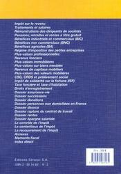 Le Fiscal A Recherche Rapide 2003 - 4ème de couverture - Format classique