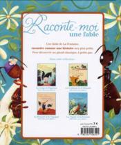 Raconte-moi une fable ; la cigale et la fourmi - 4ème de couverture - Format classique