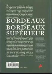 Le dictionnaire des vins abordables ; edition 2001 ; bordeaux et bordeaux superieurs - 4ème de couverture - Format classique