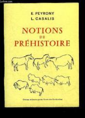 Notions De Prehistoire - Couverture - Format classique