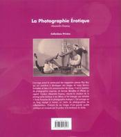 La photographie erotique - 4ème de couverture - Format classique