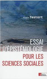 Essai d'épistemologie pour les sciences sociales - Couverture - Format classique