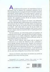 Orphelins De La Shoah (Les) - 4ème de couverture - Format classique