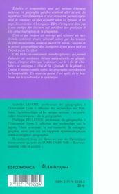 Grandeurs Et Mesures De L'Ecoumene - 4ème de couverture - Format classique