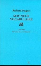 Seigneur vocabulaire - Couverture - Format classique