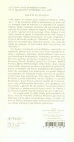 Vingt-troisièmes assises de la traduction littéraire - 4ème de couverture - Format classique