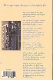 Le guide du promeneur 19eme arrondissement - 4ème de couverture - Format classique
