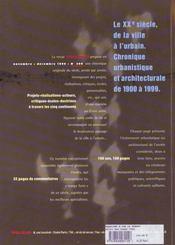 Revue Urbanisme N.308 - 4ème de couverture - Format classique