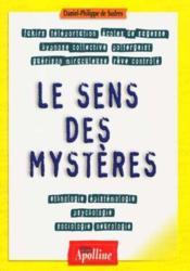 Le sens des mysteres - Couverture - Format classique