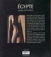 Egypte, pierres de lumiere - 4ème de couverture - Format classique