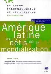 LA REVUE INTERNATIONALE ET STRATEGIQUE N.31 ; Amérique latine, les défis de la mondialisation - Couverture - Format classique