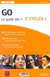 Guide Go Des 3e Cycles ; Edition 2002 - Intérieur - Format classique