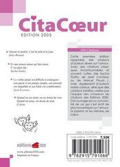 Citacoeur - 4ème de couverture - Format classique