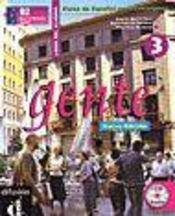 Gente 3 Nueva Edicion Libro Del Alumno + Cd - Intérieur - Format classique