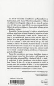 Sainte Chantal (1572-1641) - 4ème de couverture - Format classique