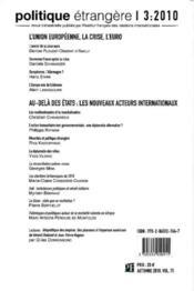 Politique Etrangere N.3-10 ; La Réconciliation Polono-Russe - 4ème de couverture - Format classique