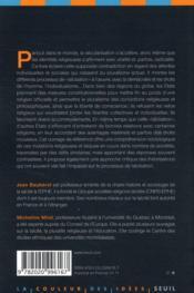 Laïcités sans frontières - 4ème de couverture - Format classique