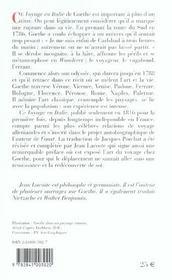 Voyage en Italie - 4ème de couverture - Format classique
