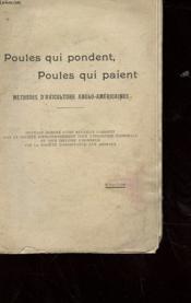Poules Qui Pondent, Poules Qui Paient - Methodes D'Aviculture Anglo-Americaines - Couverture - Format classique