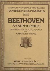 Symphonies Transcrites Pour Le Piano - Symphonie N° 1 - N°1180 Op.21 En Ut Majeur. - Couverture - Format classique