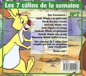 Les Sept Calins De La Semaine Avec Winnie - 4ème de couverture - Format classique