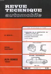Revue Technique Automobile - N°252 - Couverture - Format classique