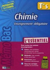 Chimie ; terminale S ; enseignement obligatoire - Intérieur - Format classique