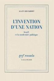 L'invention d'une nation ; Israël et la modernité politique - Couverture - Format classique