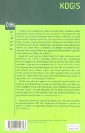 Kogis ; le message des derniers hommes et non Kogis ; le réveil d'une civilisation précolombienne - 4ème de couverture - Format classique