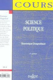 SCIENCE POLITIQUE (6e edition) - 4ème de couverture - Format classique