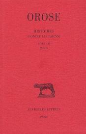 Histoires (contre les paiens) t.3 ; livre VII - Couverture - Format classique
