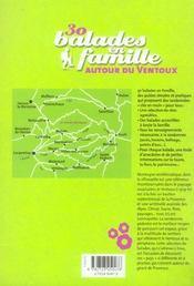 30 Balades En Famille Autour Du Ventoux - 4ème de couverture - Format classique