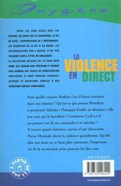 Violence En Direct (La) - 4ème de couverture - Format classique