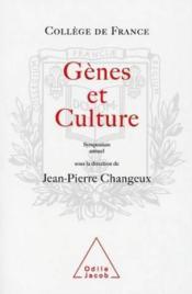 Gènes Et Culture. Enveloppe Génétique Et Variabilité Culturelle - Couverture - Format classique