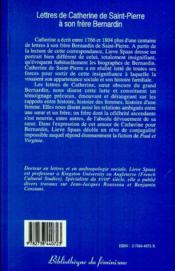 Lettres de Catherine de Saint-Pierre à son frère Bernardin - Couverture - Format classique