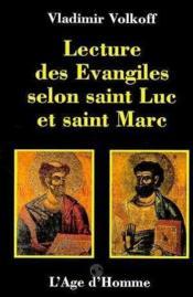 Lecture Des Evangiles Selon St-Luc Et St-Marc - Couverture - Format classique