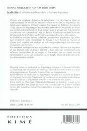 Sca-po-line/ polyphonie linguistique - 4ème de couverture - Format classique
