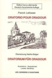 Oratorium fur oradour - Couverture - Format classique