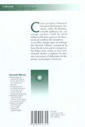 Les Documents De Synthese De L'Entreprise ; Aide A La Lecture De La Liasse Fiscale ; Edition 2001 - 4ème de couverture - Format classique