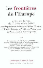 Les frontieres de l'europe - Intérieur - Format classique