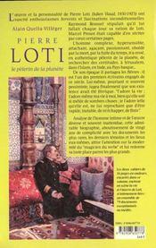 Pierre Loti, pélerin de la planète - 4ème de couverture - Format classique