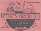 Lettres Brodees T4 - Intérieur - Format classique