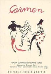 Carmen - opera comique en quatre actes - Couverture - Format classique