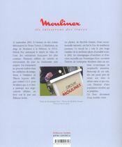 Moulinex - Ils Laisseront Des Traces - 4ème de couverture - Format classique