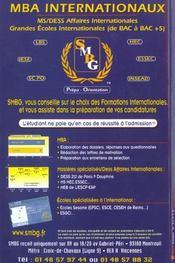 Guide Go Des Formations Internationales ; Edition 2002 - 4ème de couverture - Format classique