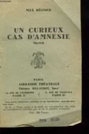 Un Curieux Cas D'Amnesie. Sketch - Couverture - Format classique