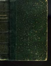 Etudes Litteraires Sur Les Grands Classiques Latins Et Extraits Empruntes Aux Meilleures Traductions - Couverture - Format classique